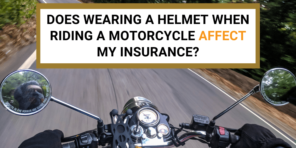 wearing motorcycle helmet
